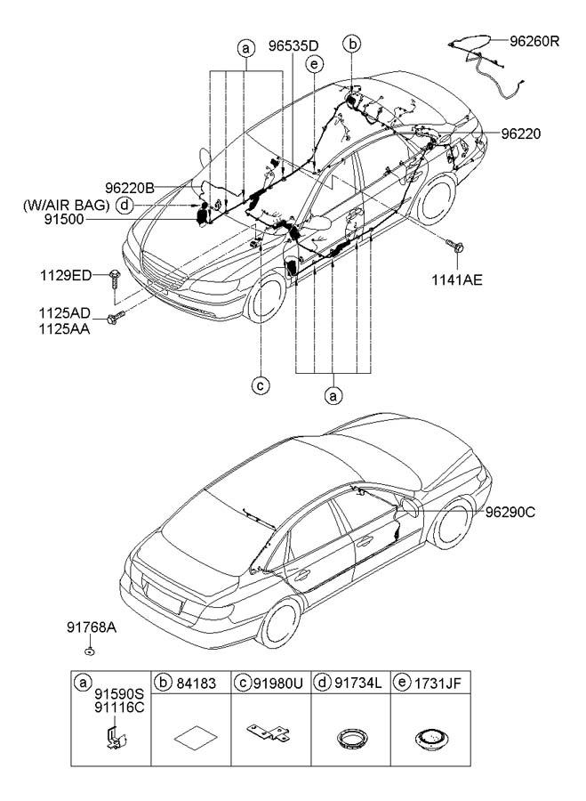 2007 Hyundai Azera FLOOR WIRING