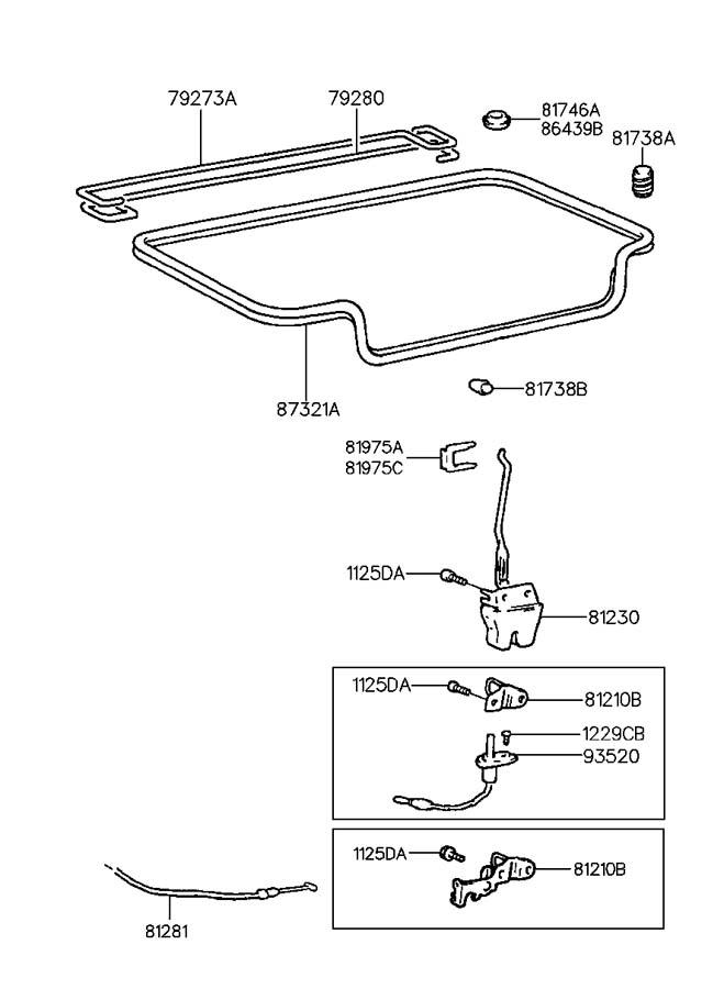 Service manual [How To Fix 1997 Hyundai Accent Trunk Latch