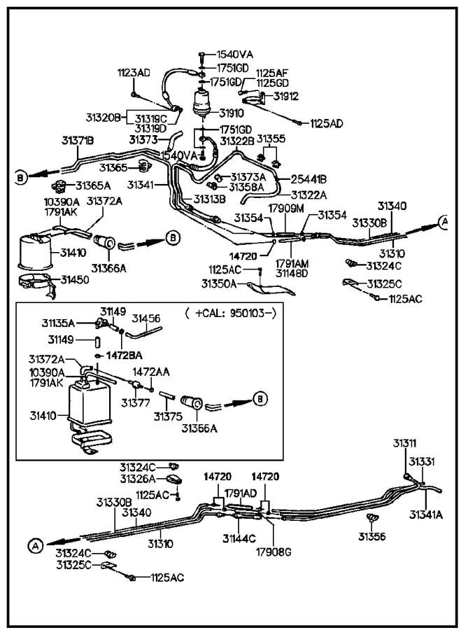 Hyundai FUEL LINES(MFI)