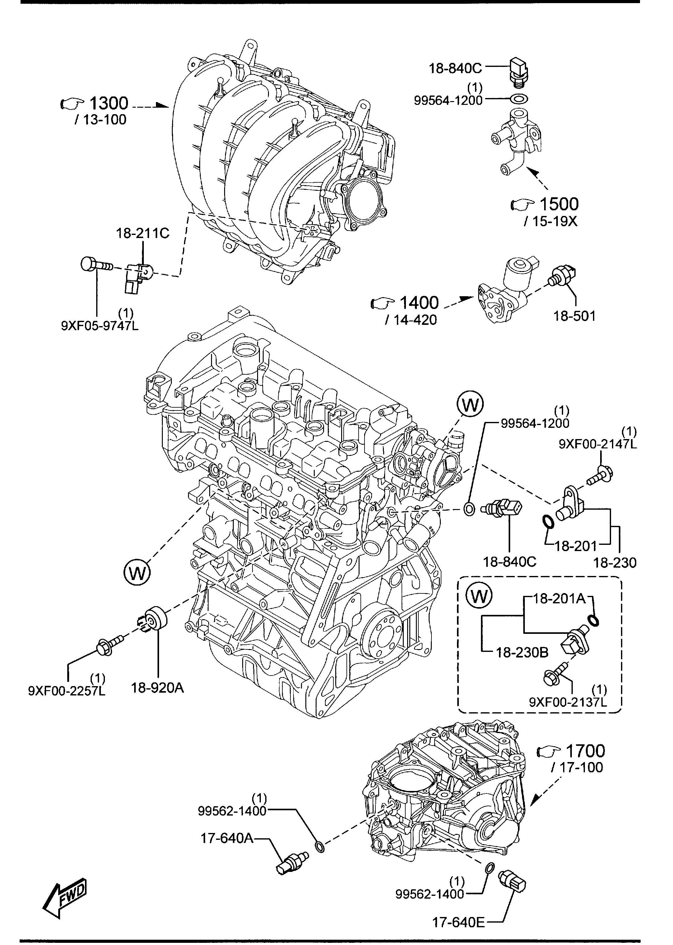 Mazda ENGINE SWITCHES & RELAYS