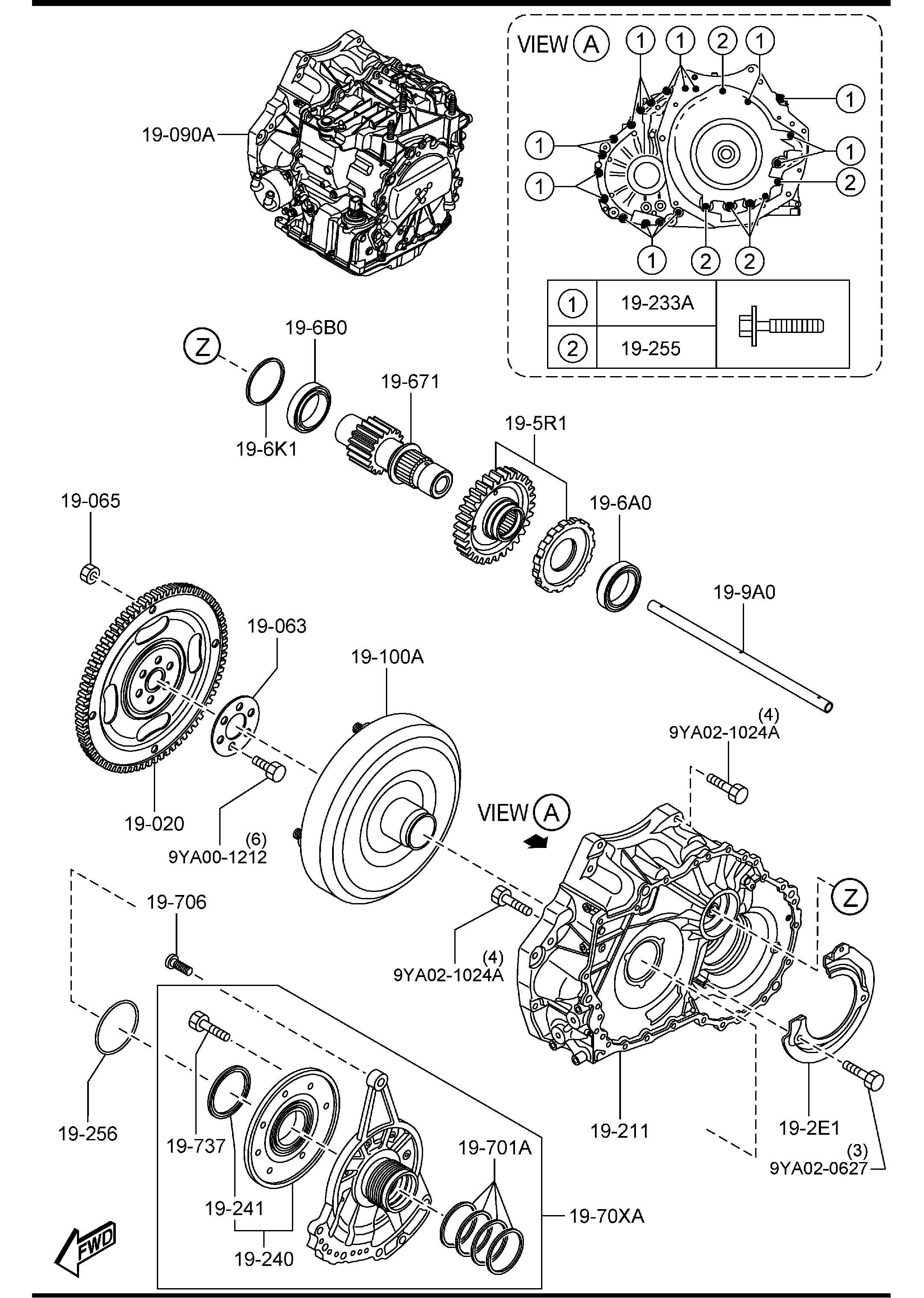 Mazda Automatic Transmission Torque Converter Oil