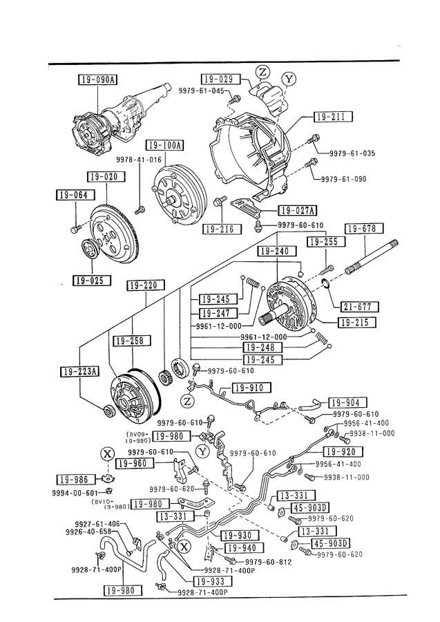 Mazda AUTOMATIC TRANSMISSION TORQUE CONVERTER, OIL PUMP