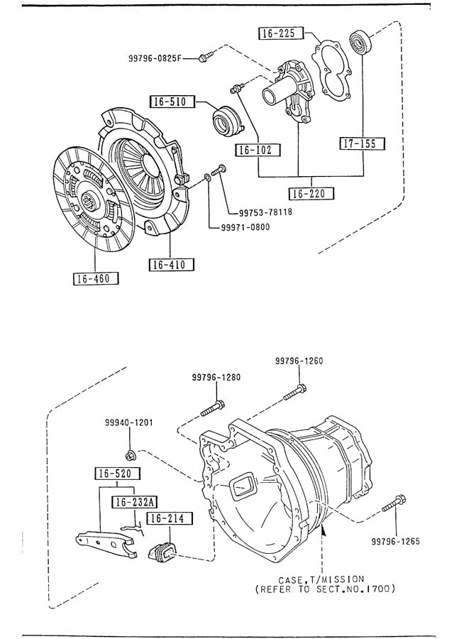 1991 Mazda Miata CLUTCH DISC & COVER