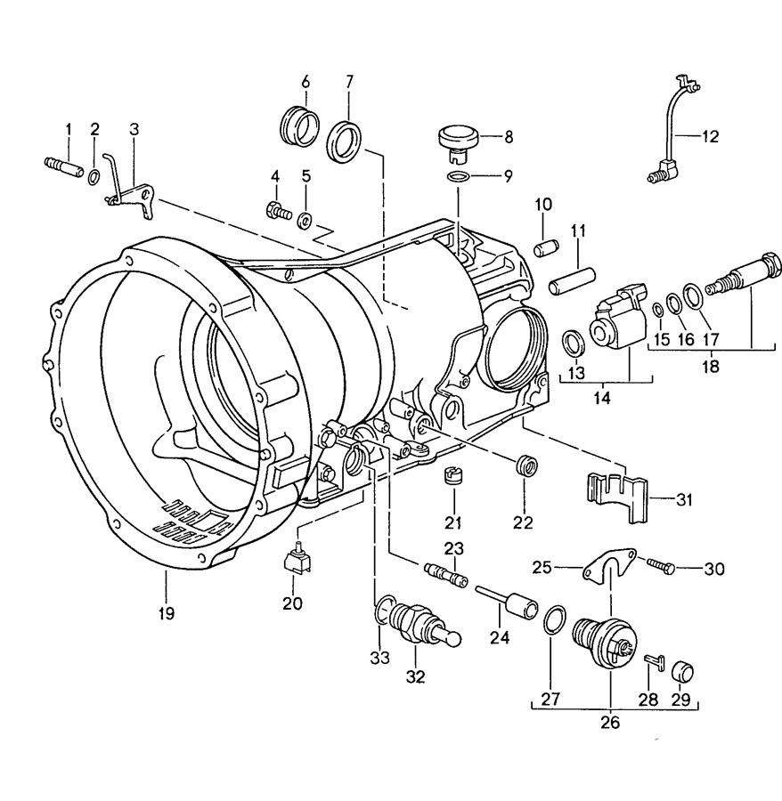 Porsche 928 automatic transmission transmission case