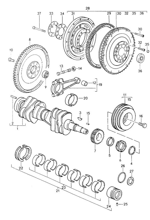 Porsche crankshaft