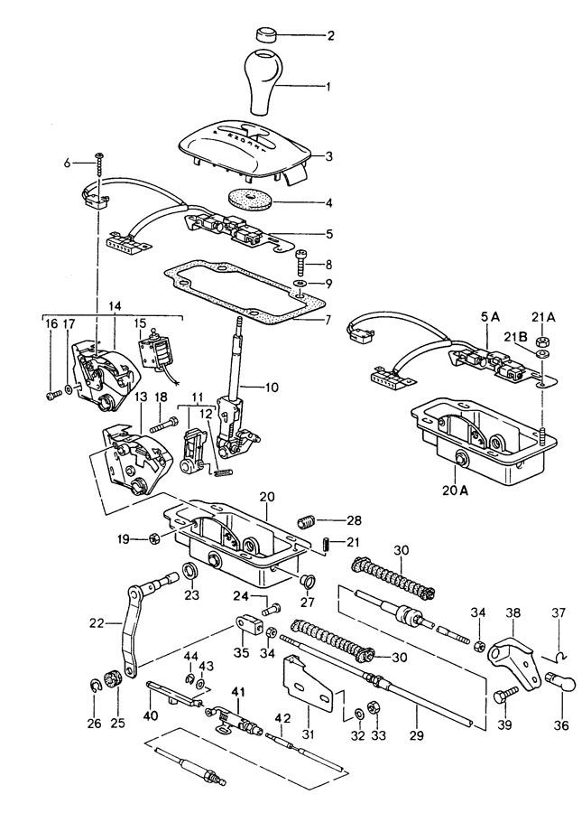 Porsche selector lever tiptronic