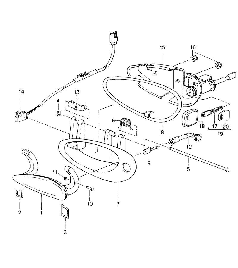 1997 Porsche Boxster door handle