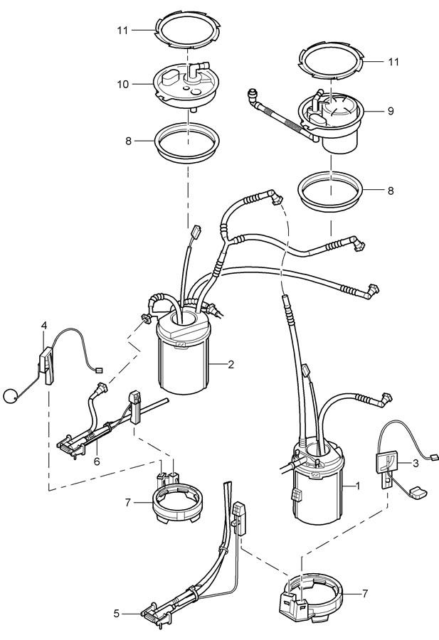 Porsche Cayenne fuel tank fuel pump venturi tube