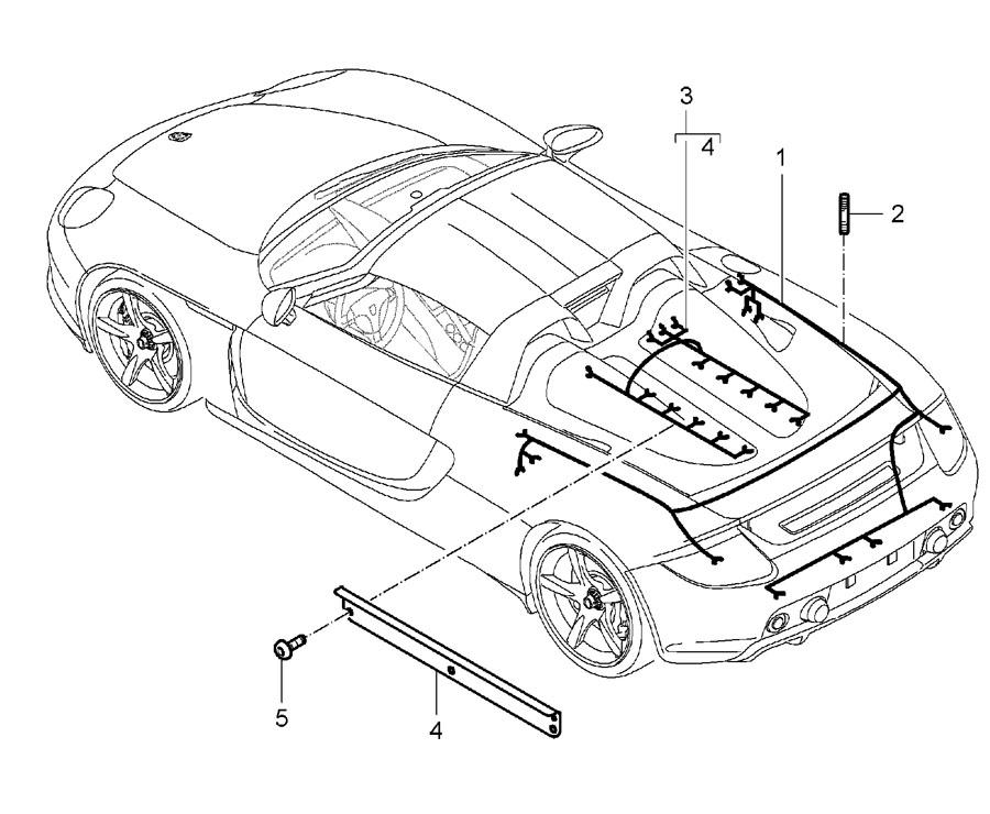 Porsche Carrera GT wiring harnesses rear end engine repair