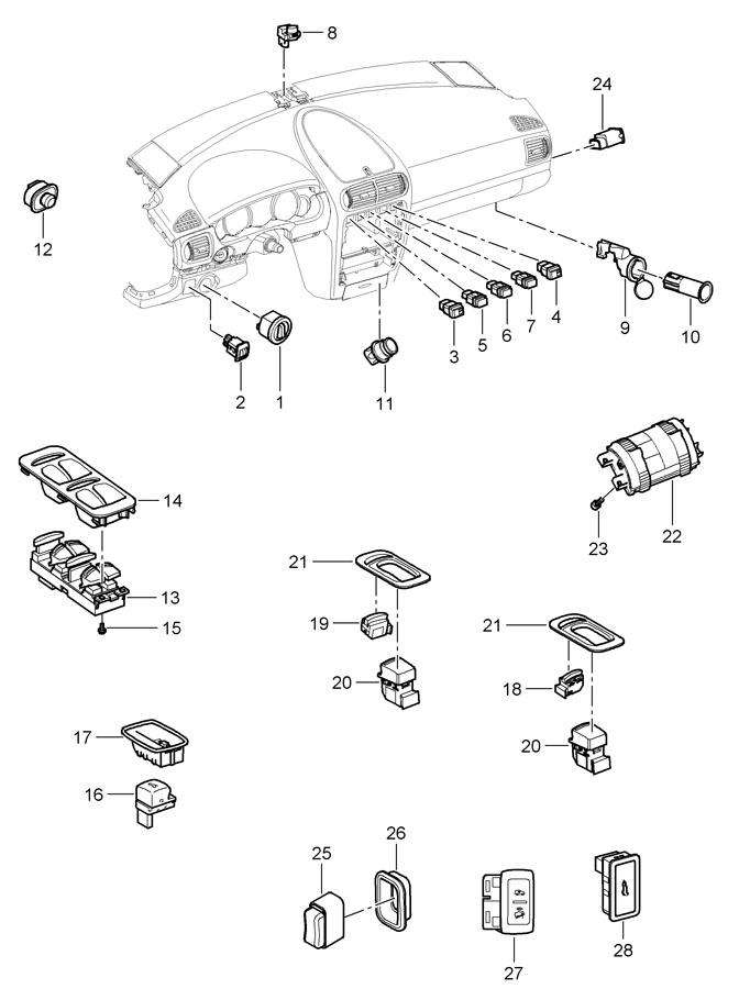 Porsche Cayenne switch
