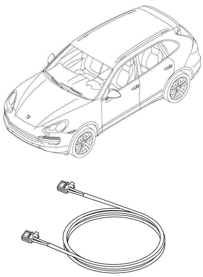 2013 Porsche Cayenne wiring harnesses airbag seat belt