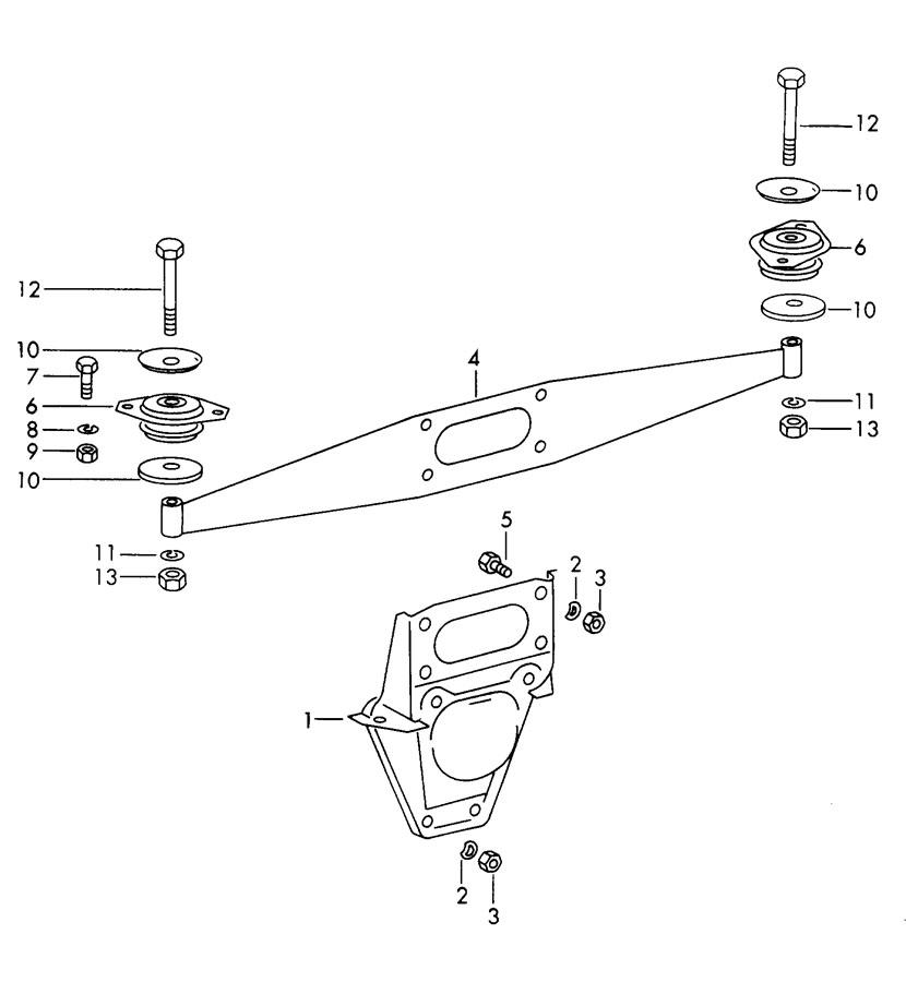Porsche 912 engine suspension rear