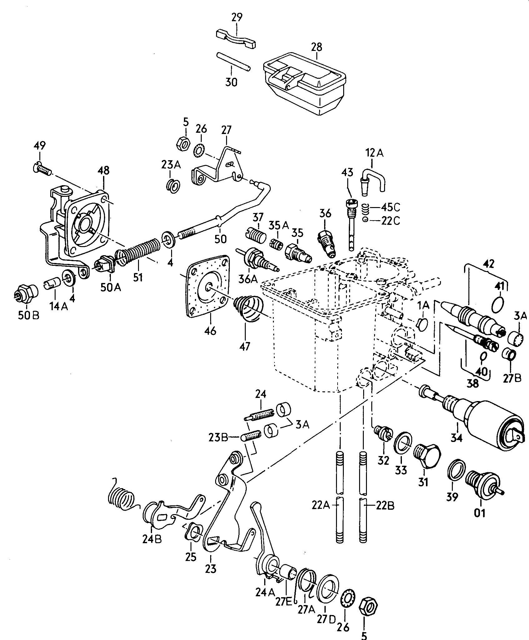 Volkswagen Scirocco Carburetor Body Lower Part