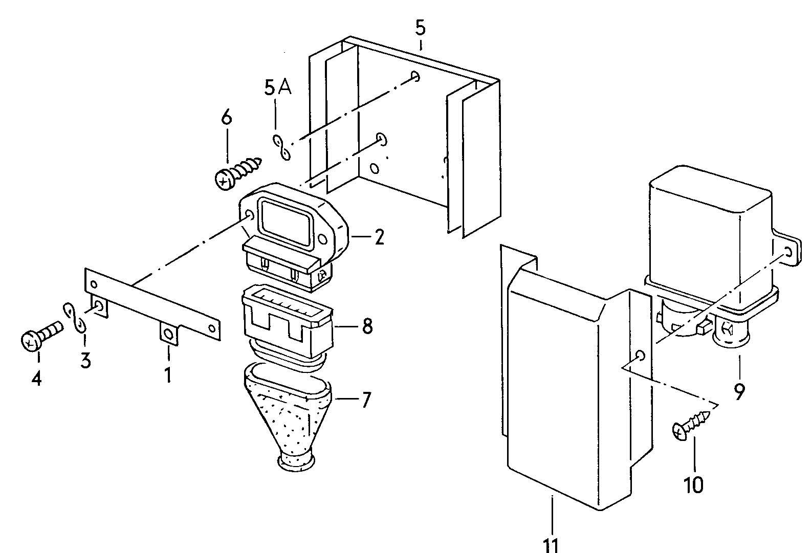 Volkswagen Quantum Transistor coil ignition unit shift