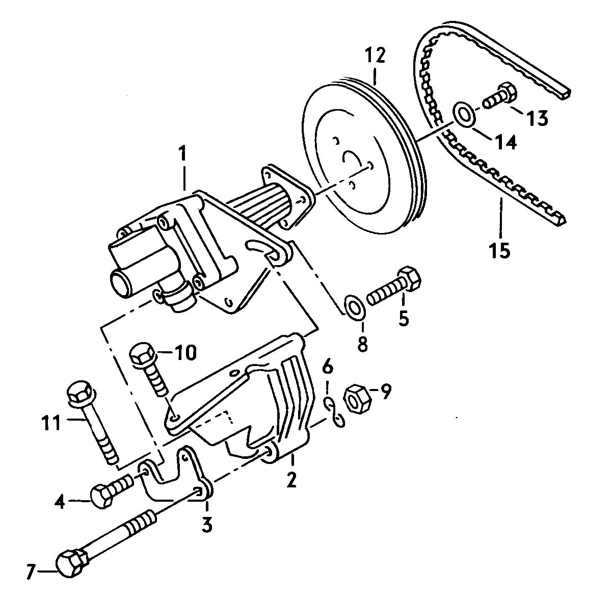 Volkswagen Vw Vanagon Hydraulic Pump For Power