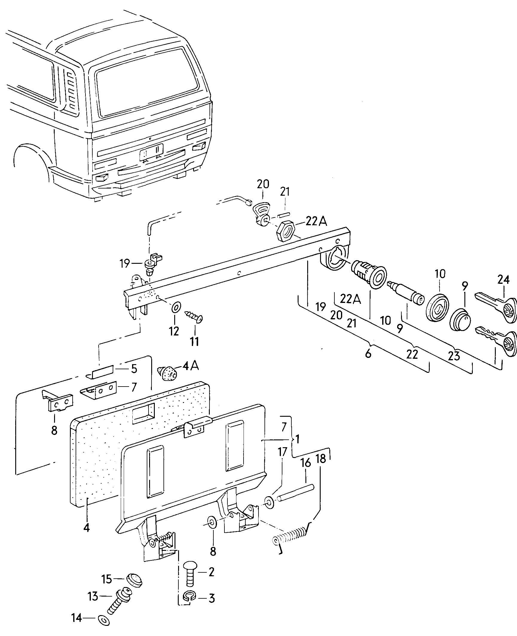 1992 Volkswagen Vanagon Inspection cover