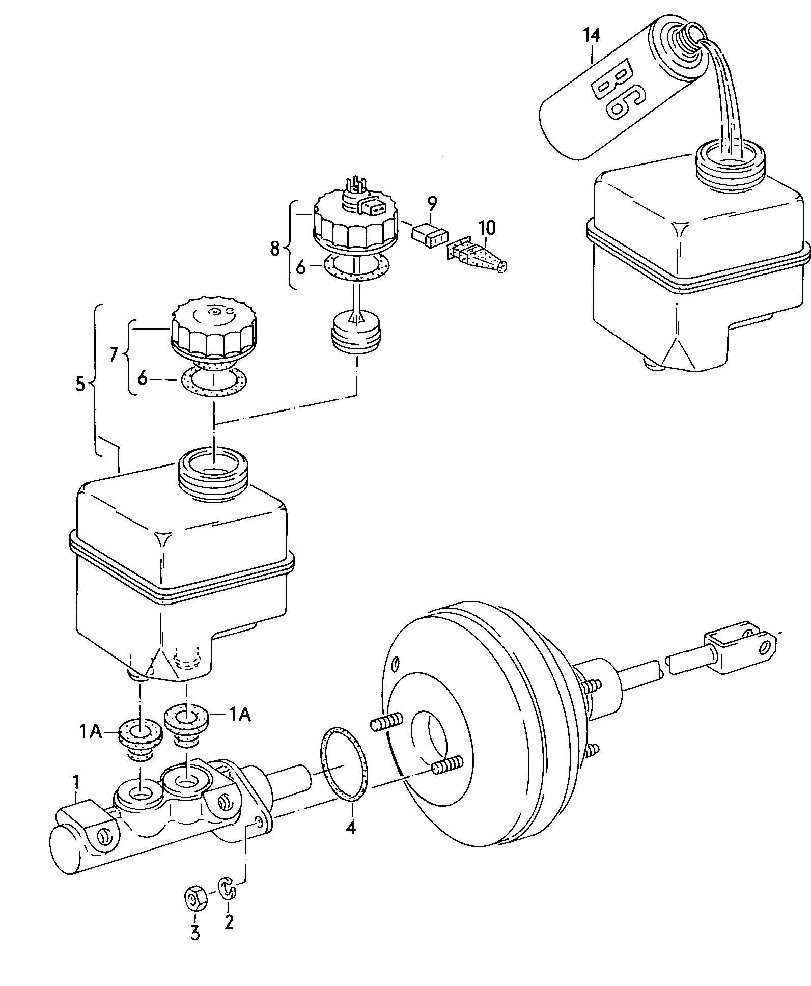 Brake master cylinder reservoir