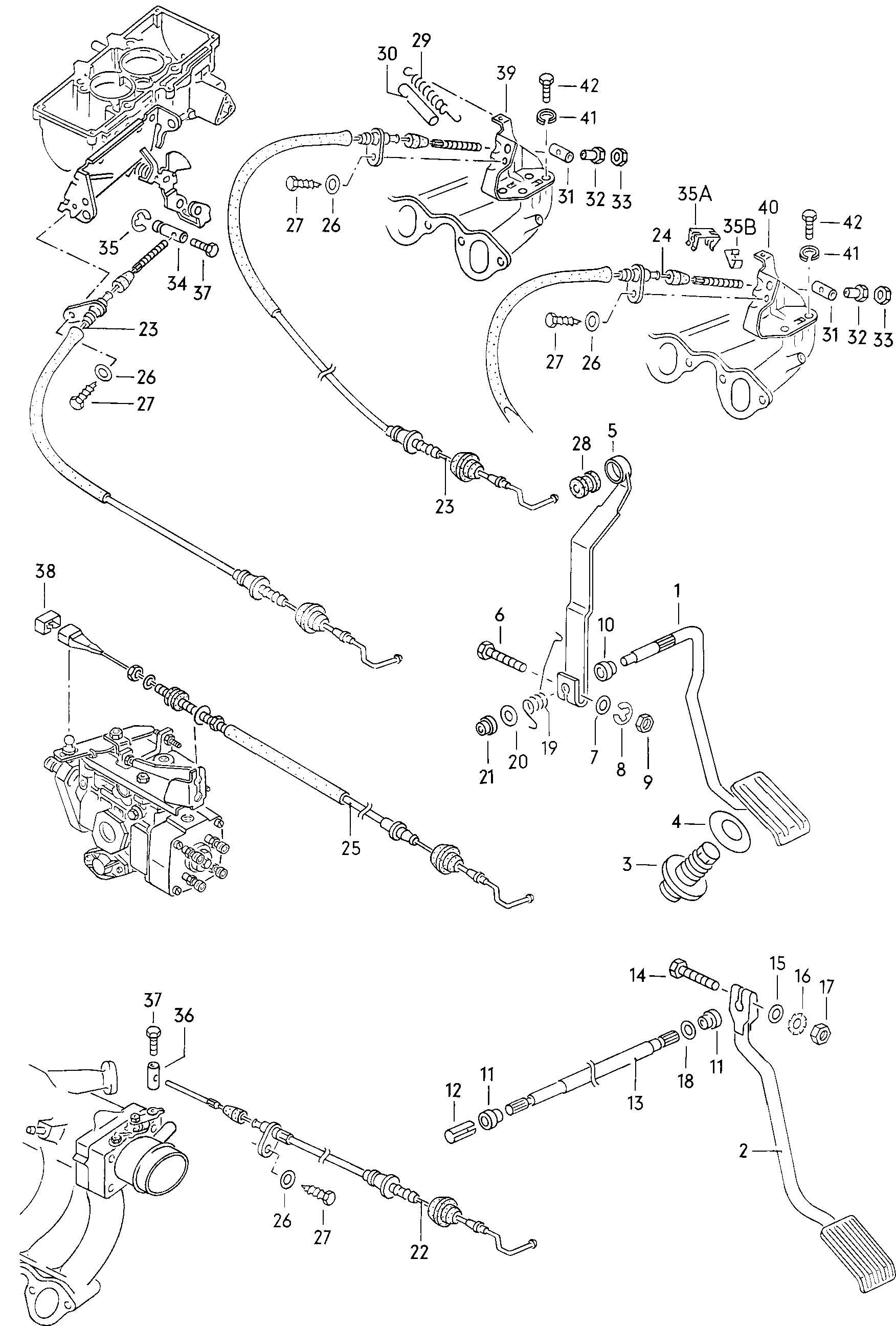 Accelerator pedal accelerator cable
