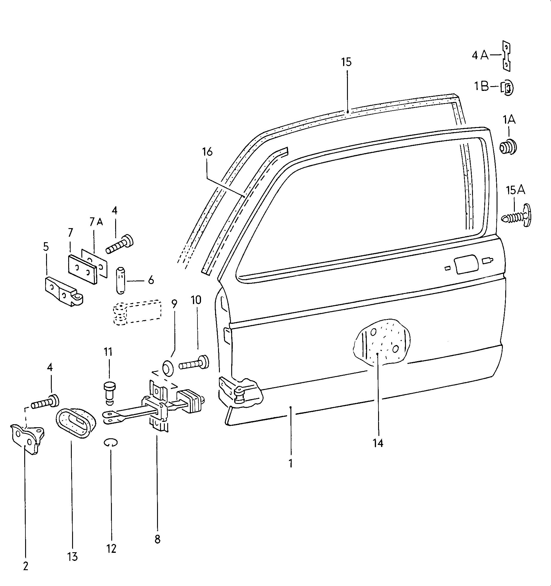 Volkswagen Rabbit Doors Door Hinge Door Seal Check Rod