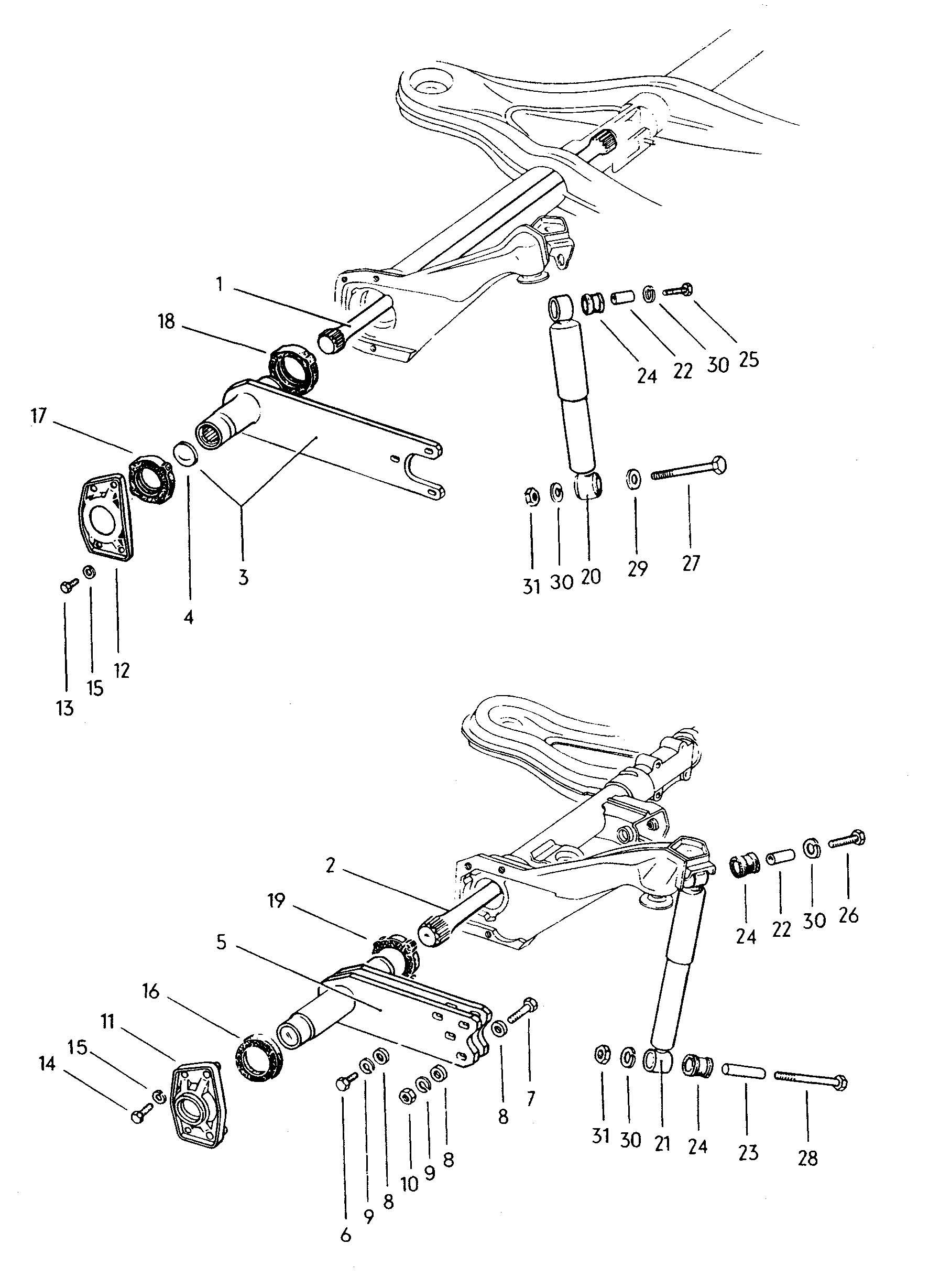 Volkswagen Type 3 Shock Absorber Torsion Bar Rear