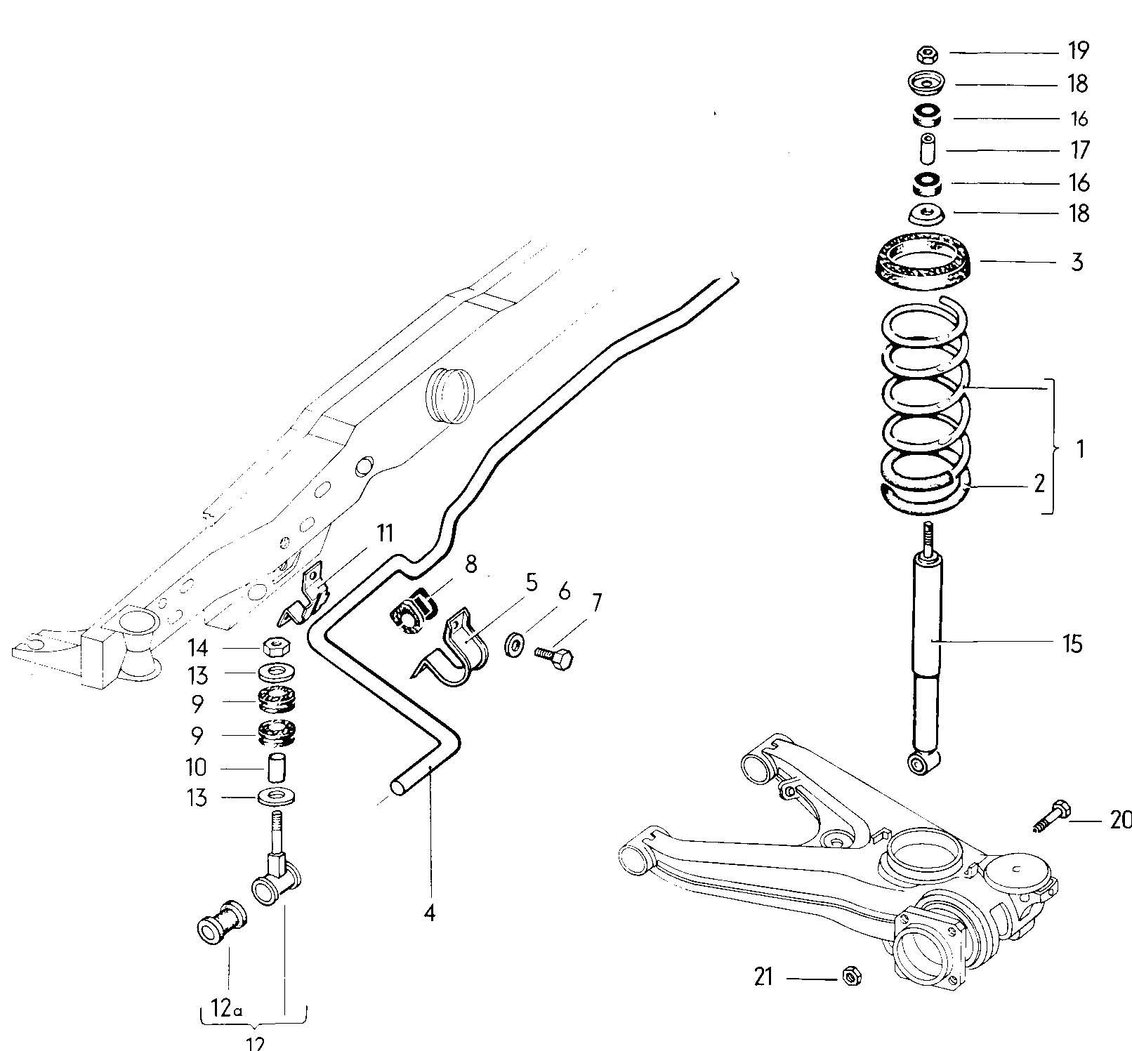 Volkswagen Type 3 Suspension Shock Absorber Rear