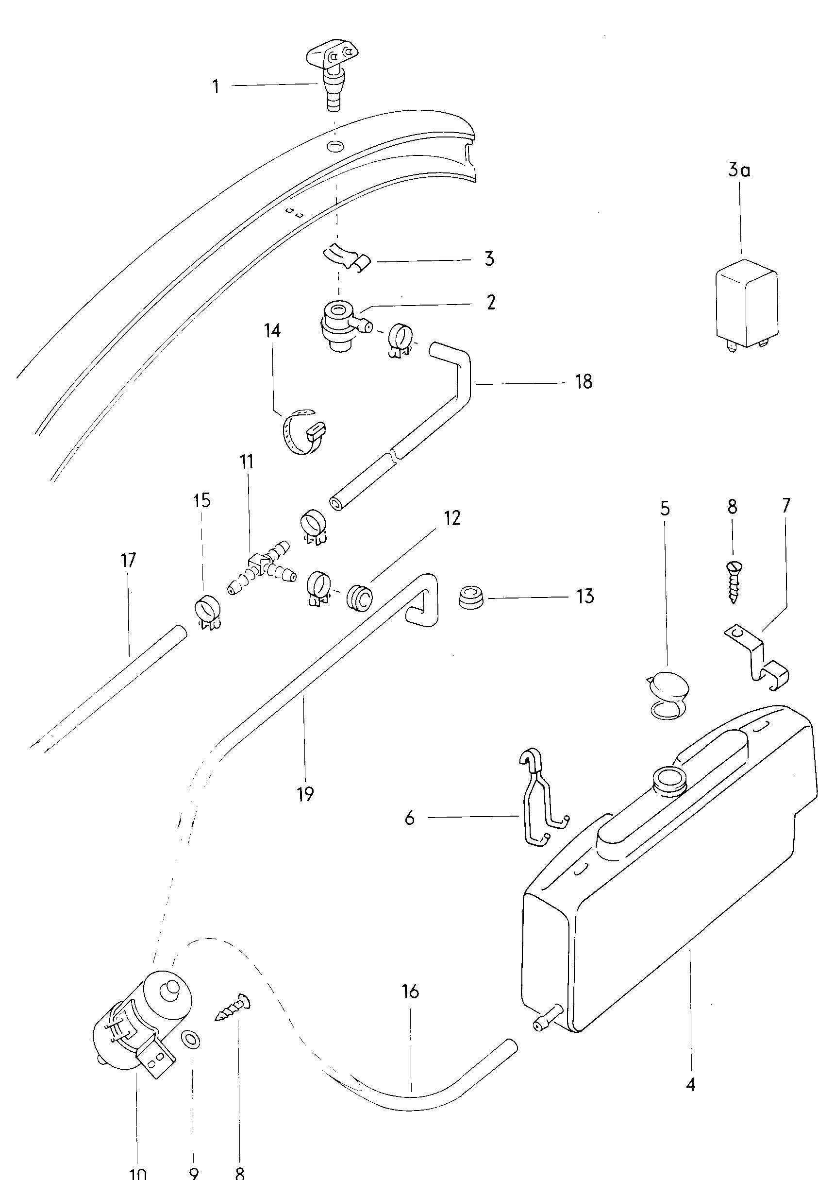 1970 Volkswagen Headlight washer system