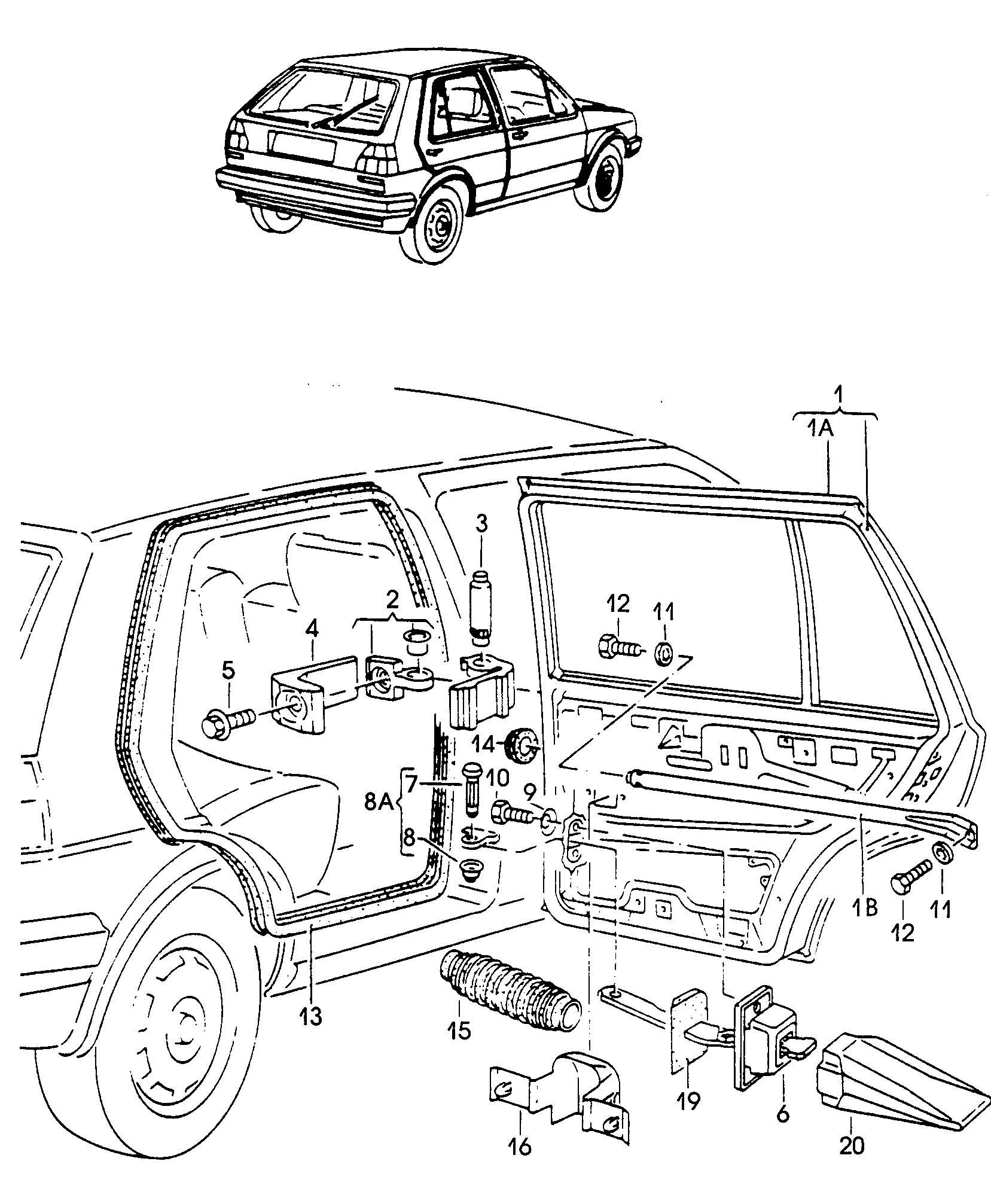 Volkswagen Vw Golf Doors Door Hinge Door Seal Check