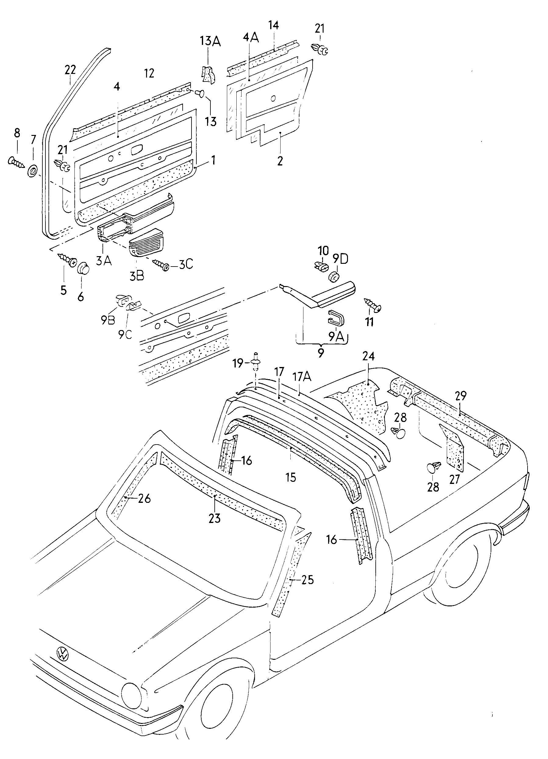 1984 Volkswagen (VW) Cabrio/Cabriolet Interior trim