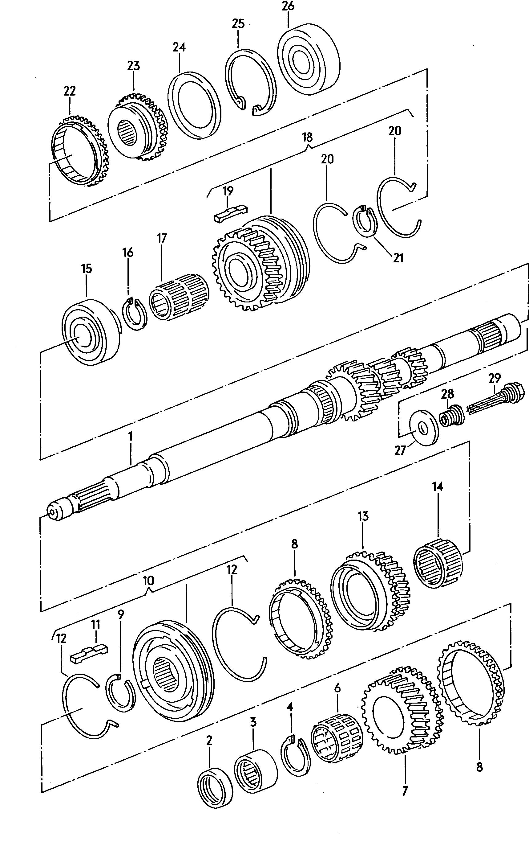 Gears and shafts drive shaft