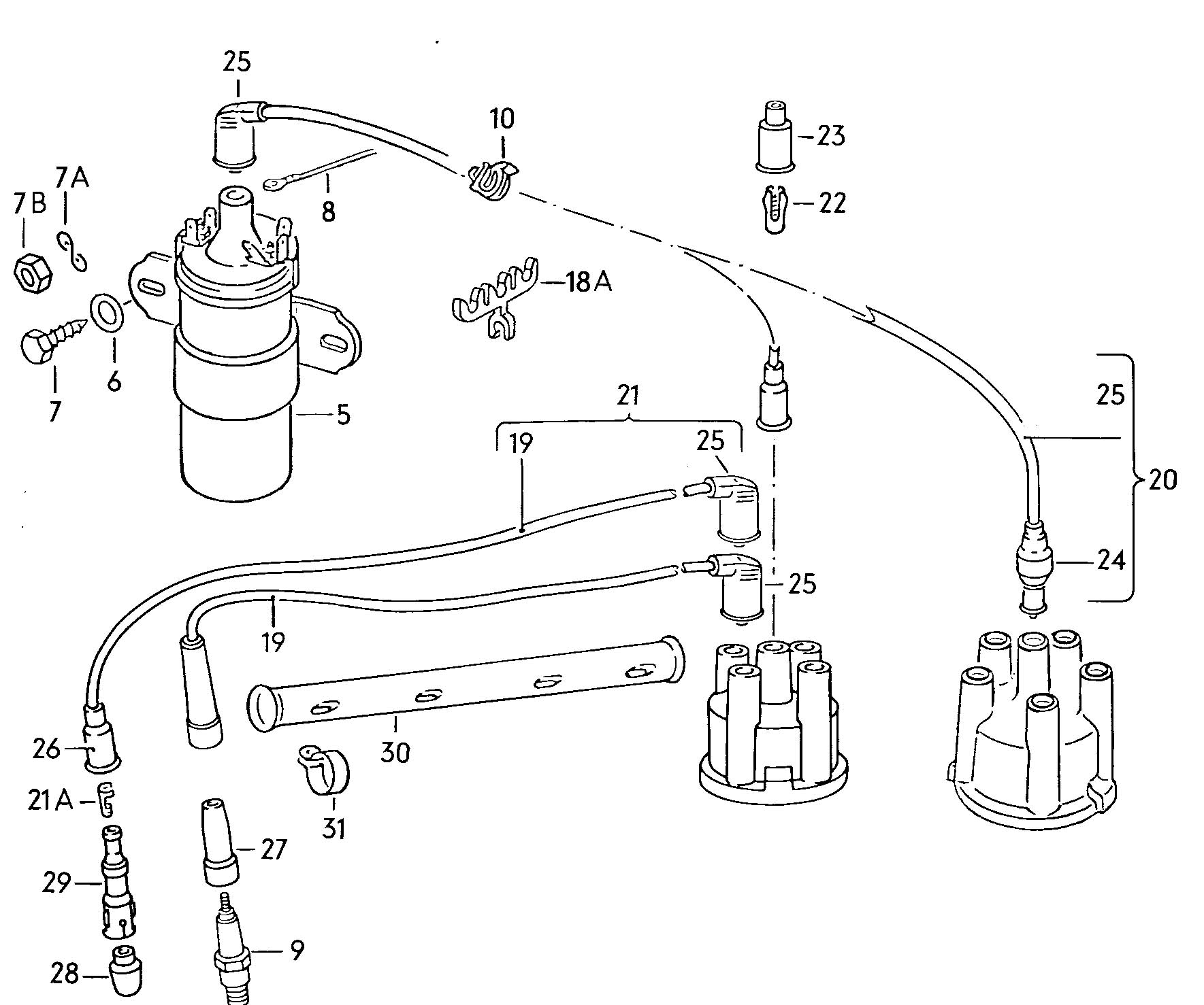 hight resolution of ignition coil wiring also 74 vw beetle ignition coil wiring diagram