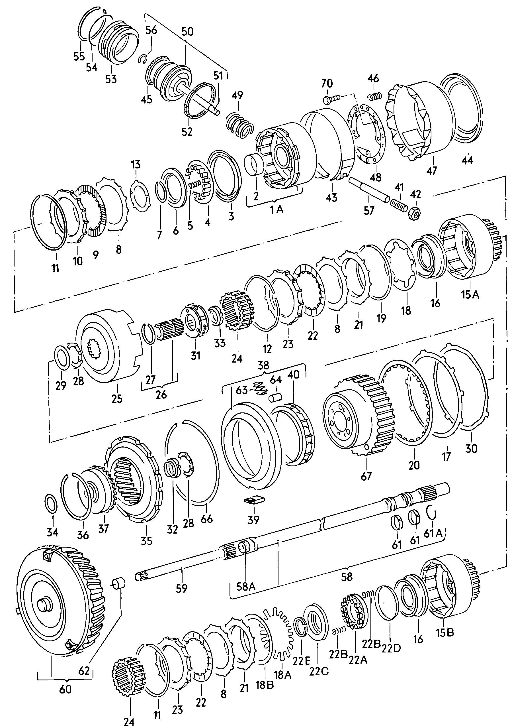 Forward Direct Reverse Gear Clutch Torque Converter For