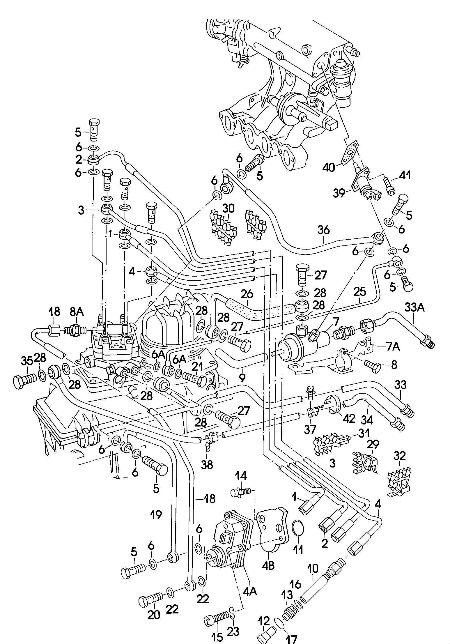 1987 Volkswagen Golf 1.8L KE-Jetronic Cold start valve