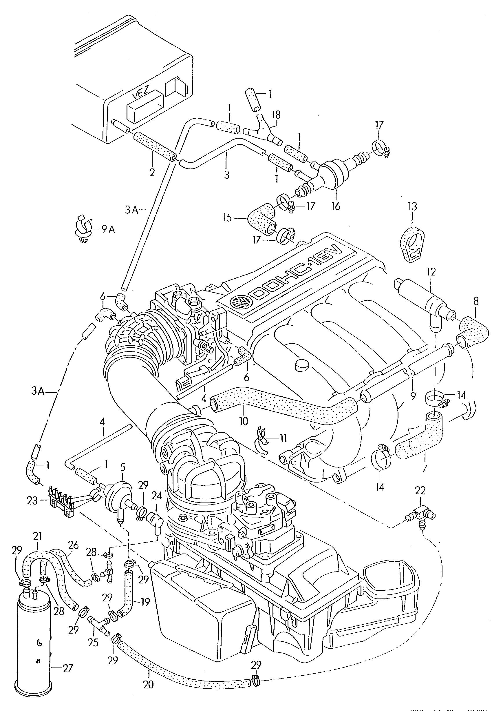 2002 vw passat vacuum hose diagram ez go gas golf cart wiring cabriolet free engine image for