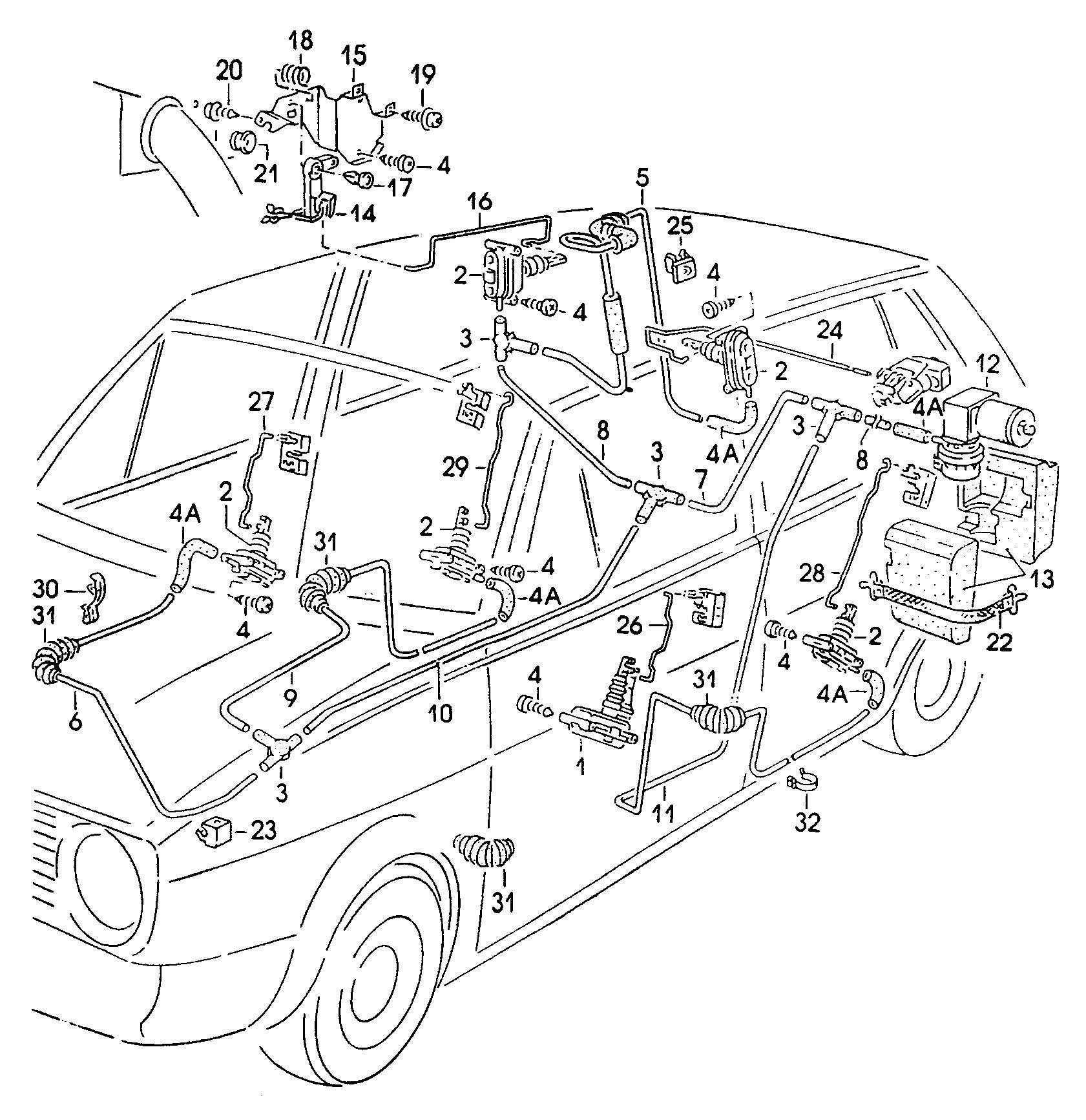 1989 Volkswagen Jetta Central locking system