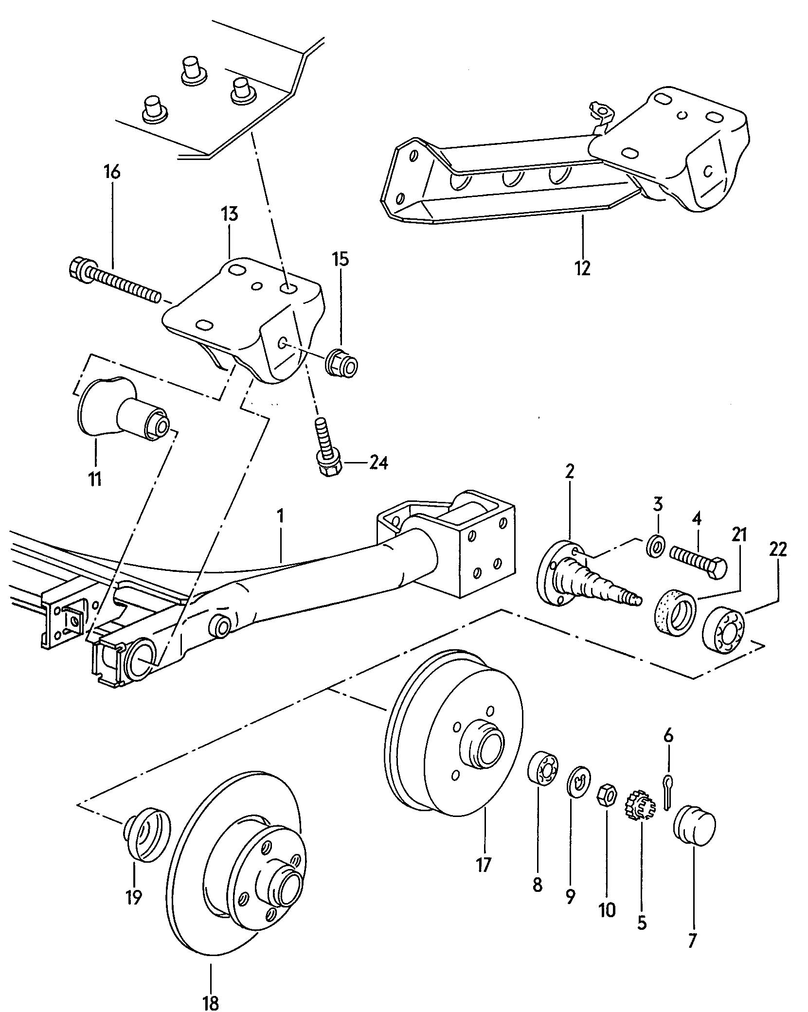 Vw Bug Ball Joint Front Beam Diagram, Vw, Free Engine