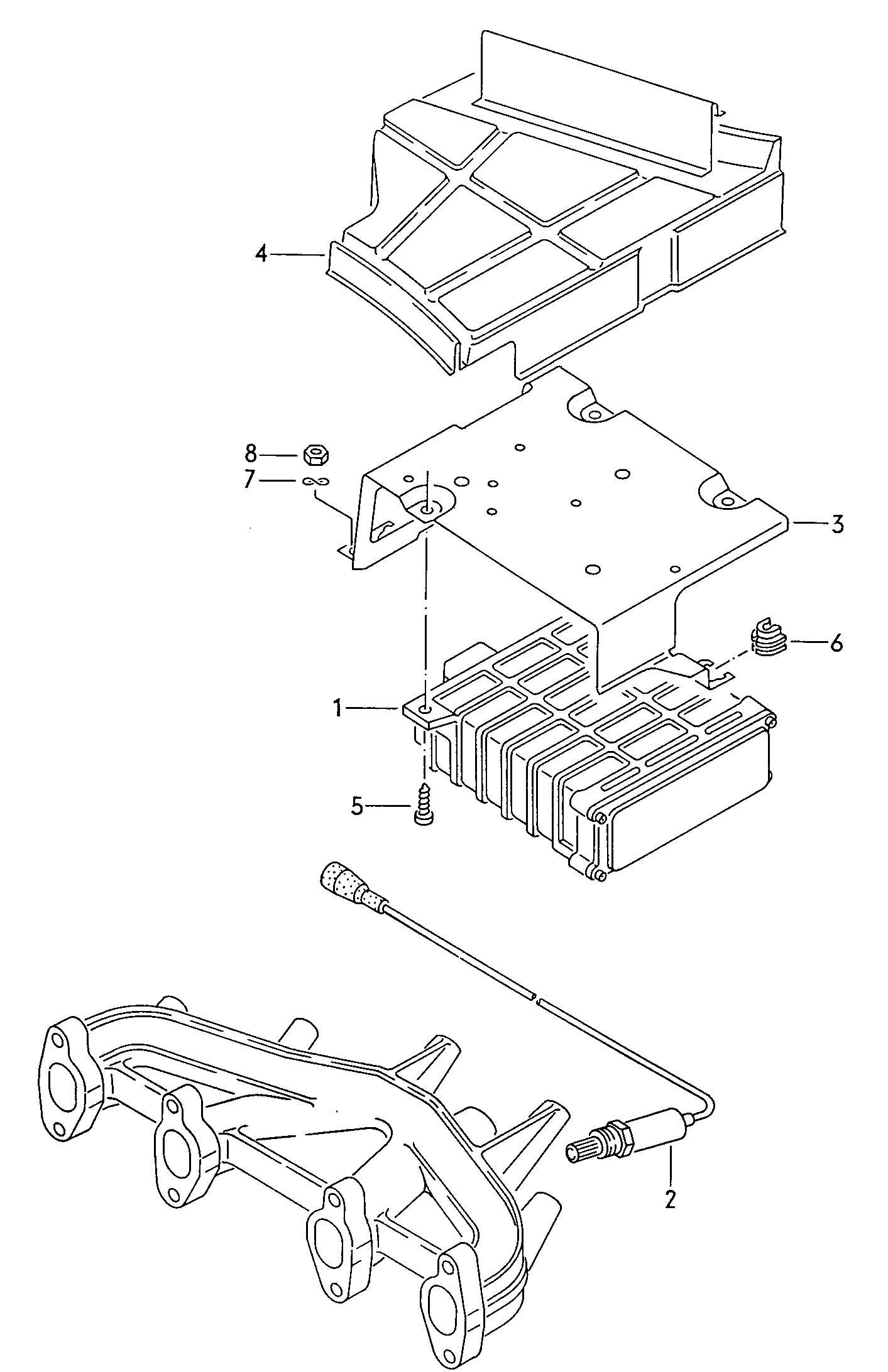 1986 Volkswagen Golf Oxygen sensor with control module