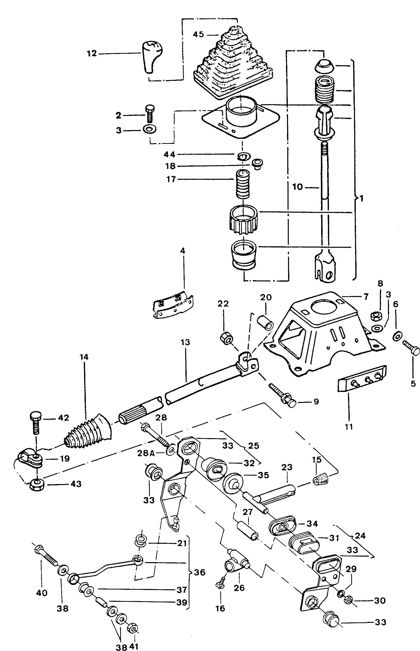 Volkswagen Fox Shift mechanism