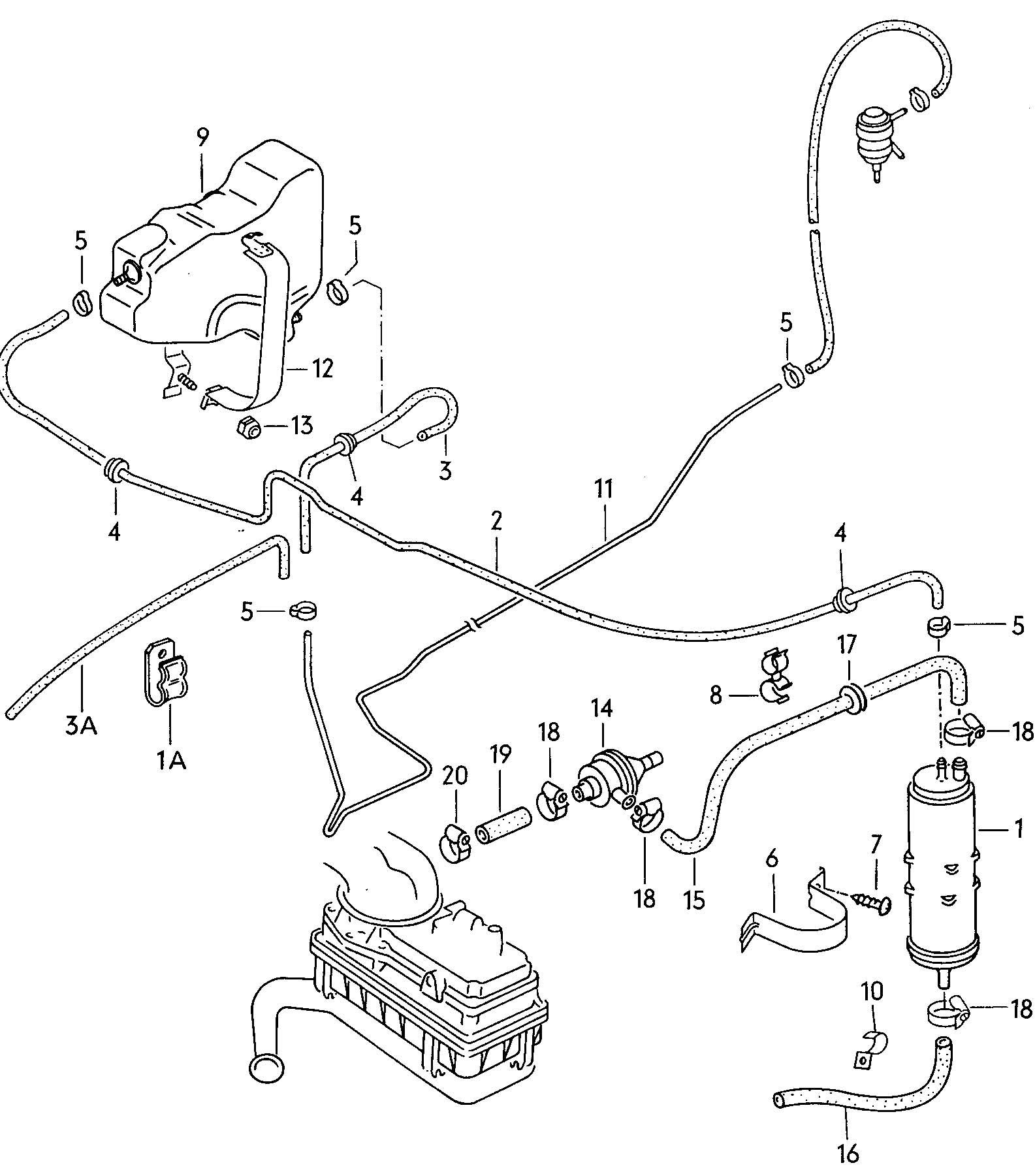 Volkswagen Rabbit Evaporative Emission Canister Expansion