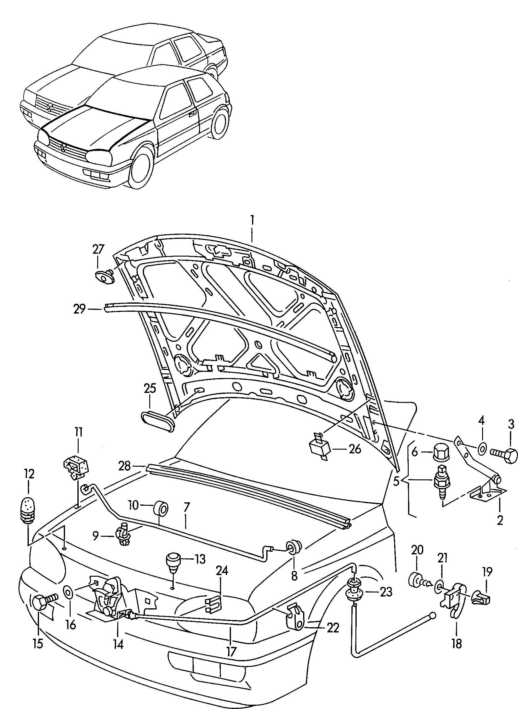 Volkswagen Jetta Hood