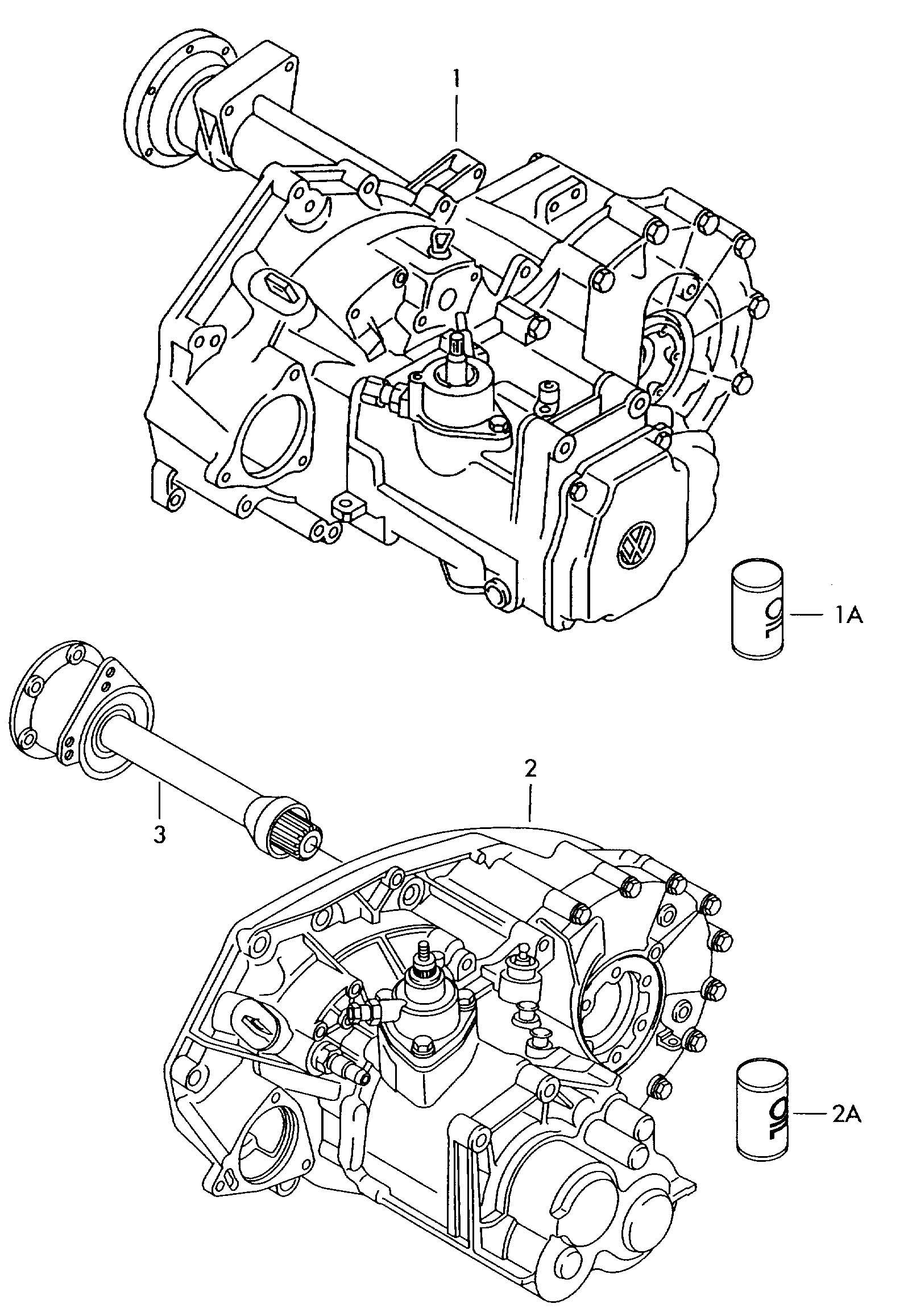 1997 Volkswagen EuroVan Transmission, complete 5 speed
