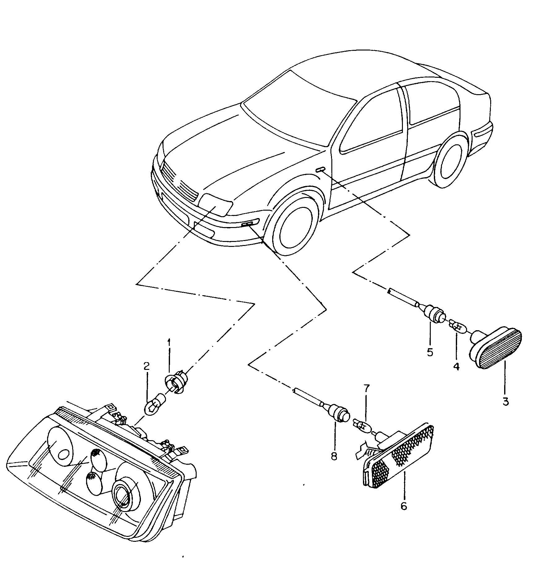 Volkswagen Jetta Variant Side marker light turn signal