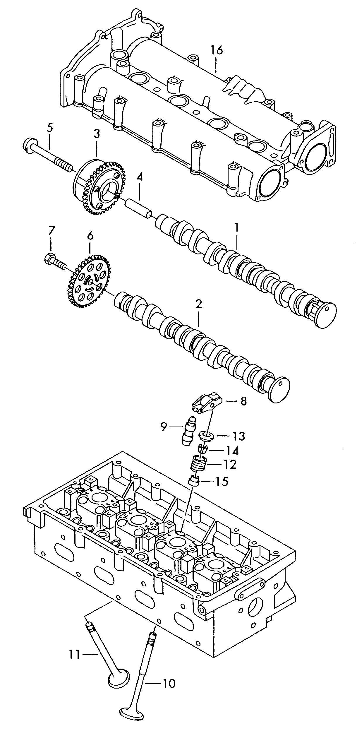 Volkswagen Tiguan Camshaft Valves Camshaft Adjuster Unit 1 4ltr