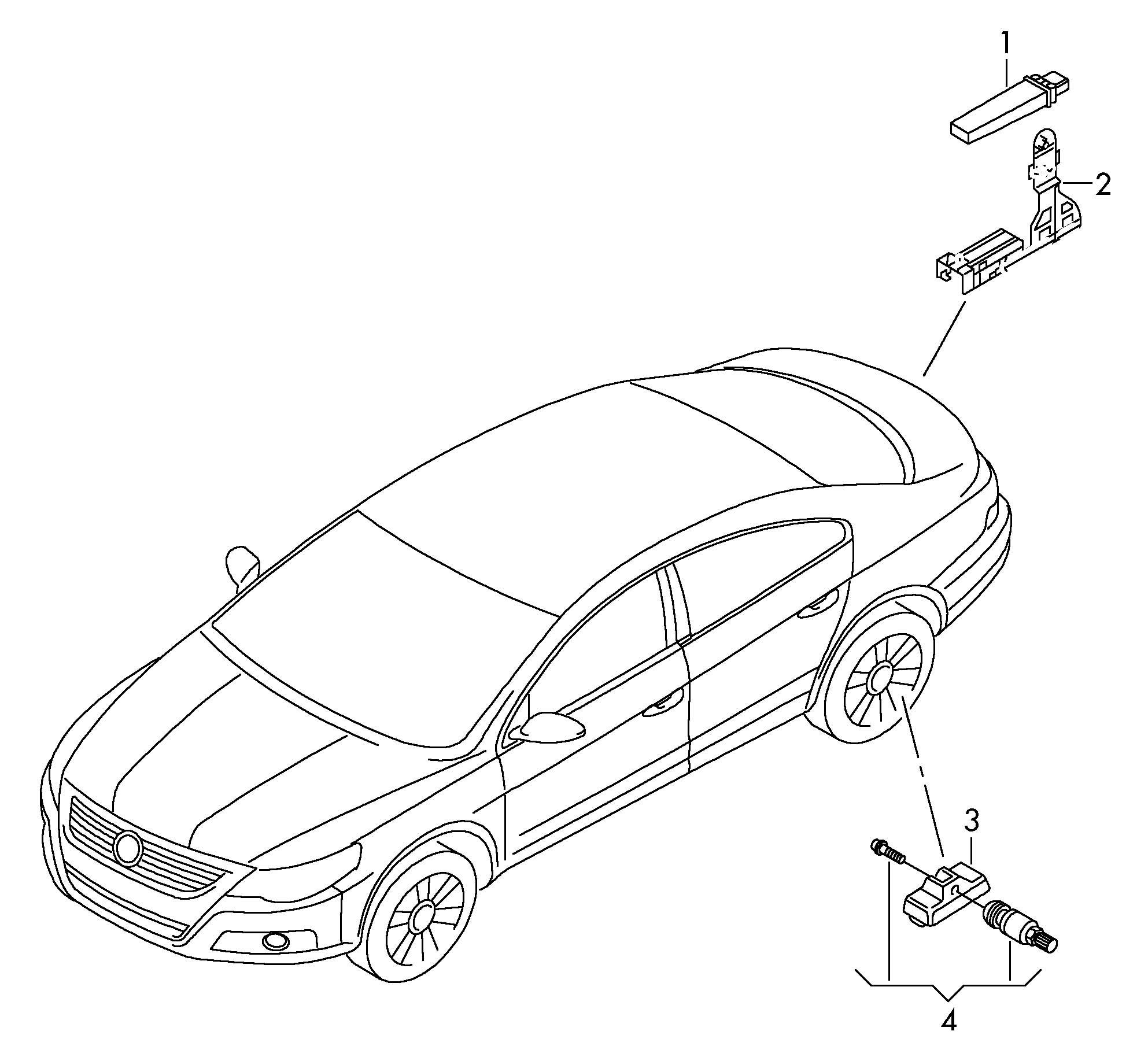 Volkswagen Passat CC Tire pressure control system