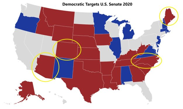 Democrats Need To Flip 4 States Blue To Capture Senate Majority – They Have A Shot