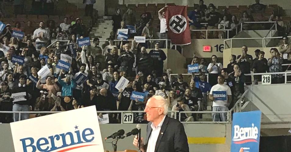 Nazi Flag Unfurled At Sanders Rally In Phoenix – White Nationalist Identified