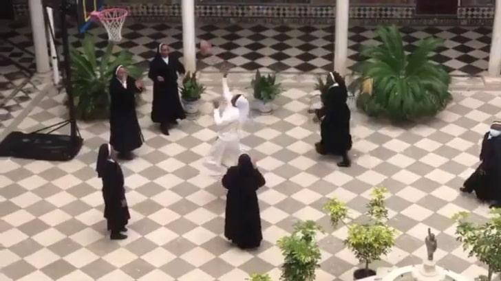 Nuns Take A Break From Making Coronavirus Masks To Play Basketball & World LOVES It