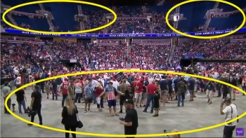Trump Expected A Million Supporters – What He Got Was Empty Seats & Plenty Of Space