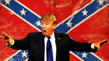 Racist-In-Chief Condemns NASCAR's Only Black Driver & Defends Confederate Flag