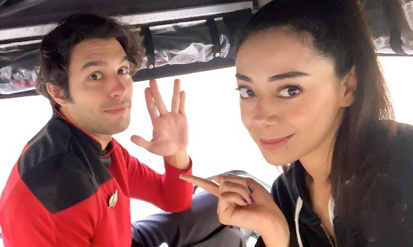 Garcia Spills More On Ella's New Love Interest – But WHY Is He Wearing That RED Star Trek Uniform?
