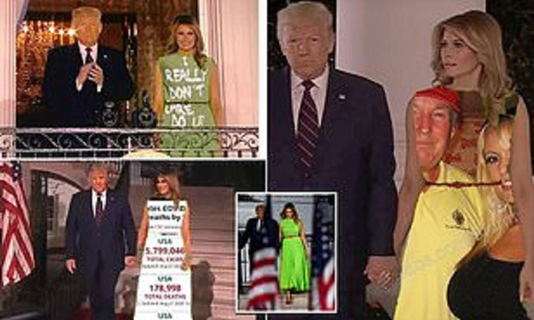 Melania Trump's RNC Dress Becomes A Hilarious Meme As People Use It As A GREEN SCREEN